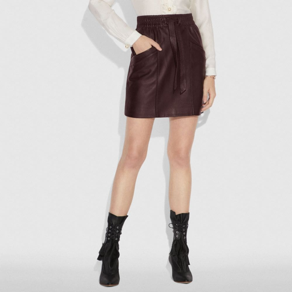 Coach LEATHER SKIRT Alternate View 1