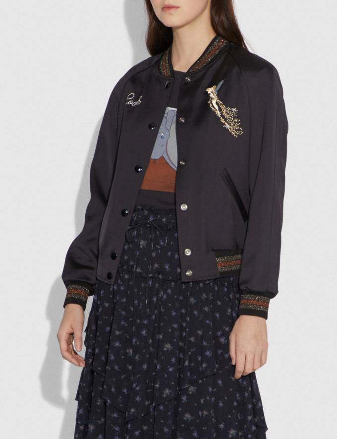Coach Disney X Coach Reversible Varsity Jacket Black Women Ready-to-Wear Outerwear Alternate View 1