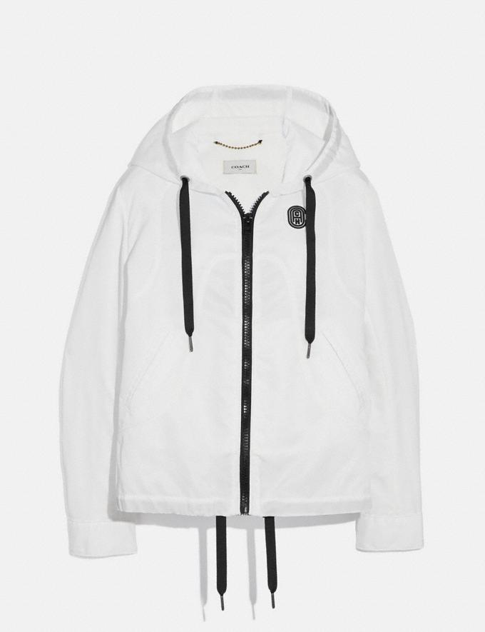 Coach Western Windbreaker White SALE Women's Sale Ready-to-Wear