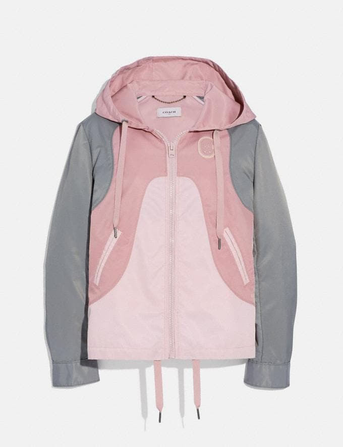 Coach Western Windbreaker Pink Multi