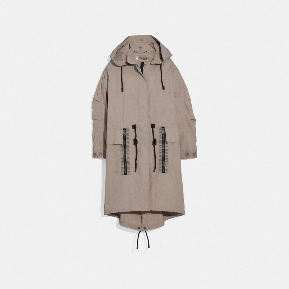 Coach Military Coat With Hood