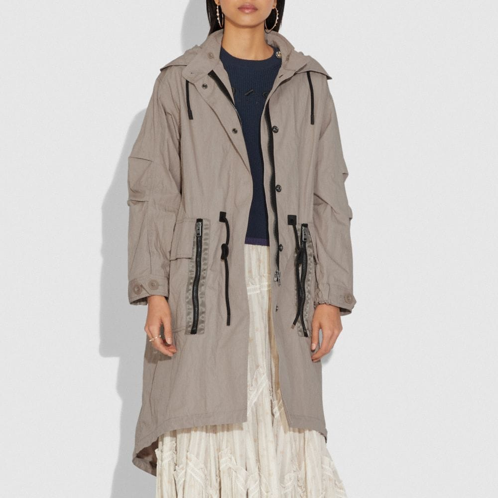 Coach Military Coat With Hood Alternate View 1