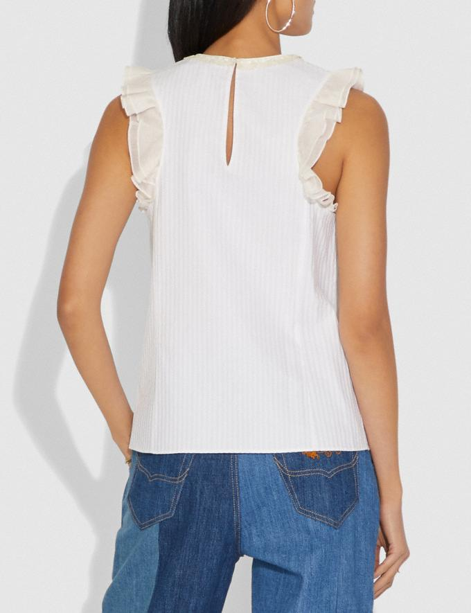 Coach Top With Studs White New Featured Selena Gomez in Coach Alternate View 2