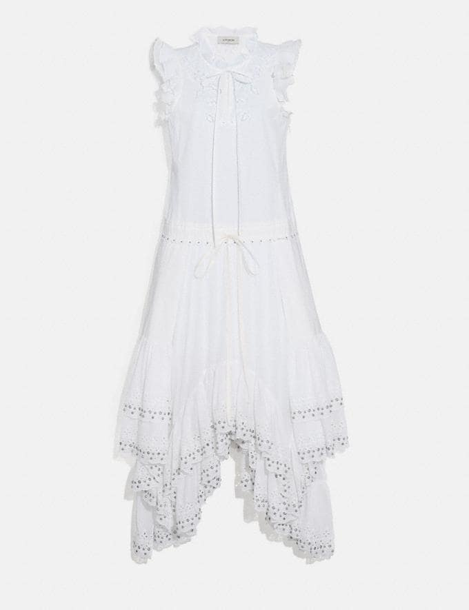 Coach Cotton Prairie Dress White Women Ready-to-Wear Dresses
