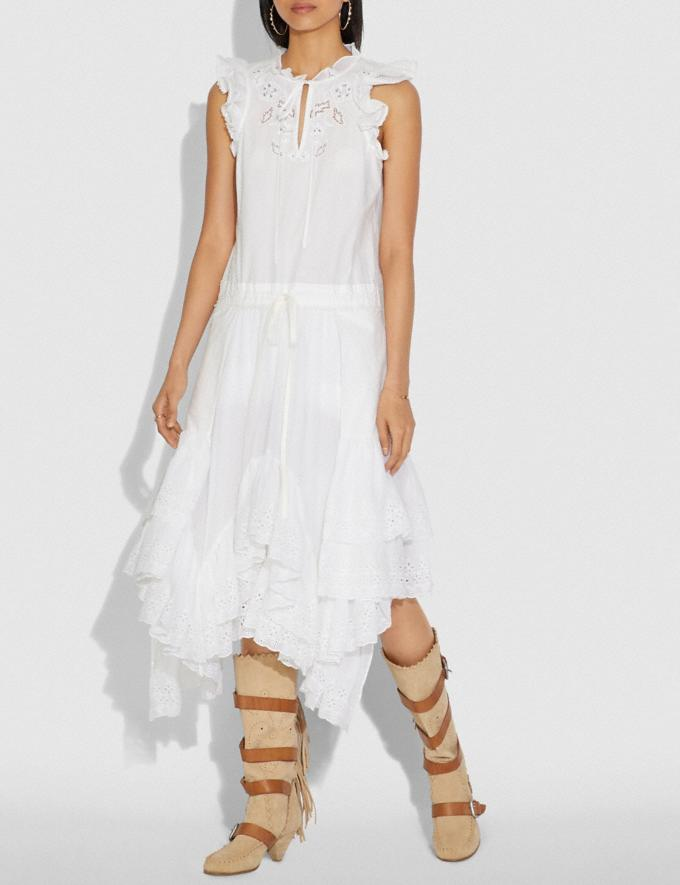 Coach Cotton Prairie Dress White  Alternate View 1