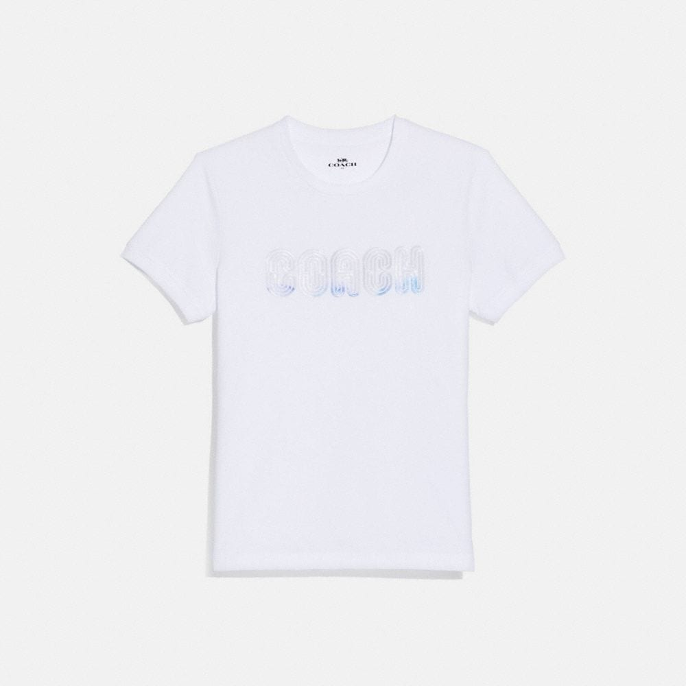 Coach Embroidered Shrunken T-Shirt