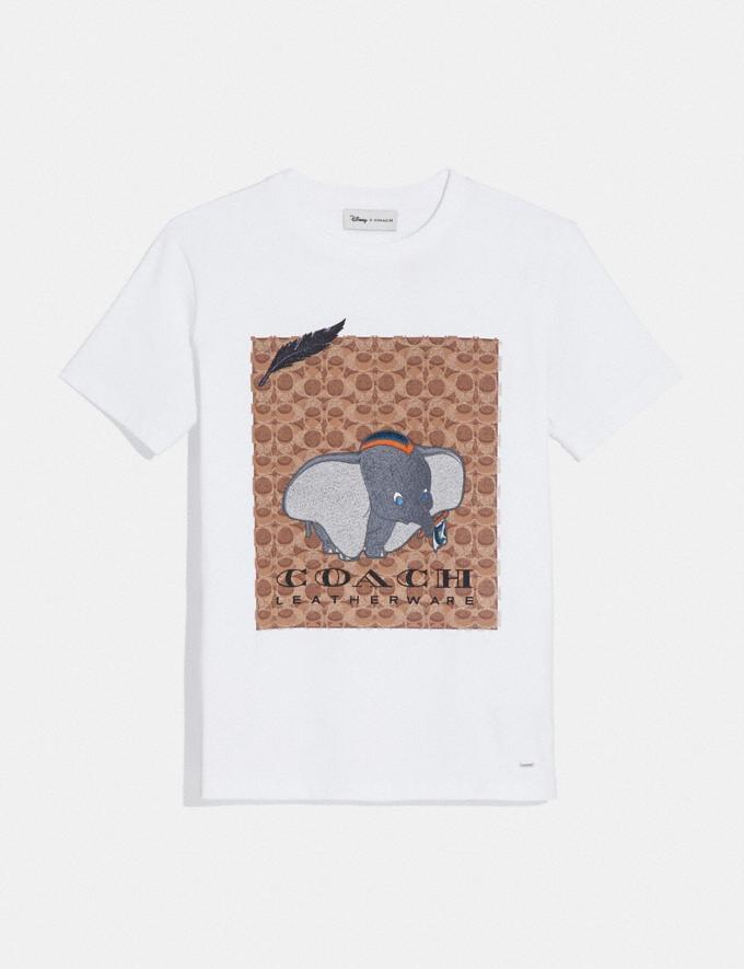 Coach Disney X Coach Dumbo Signature T-Shirt Optic White Women Ready-to-Wear Tops