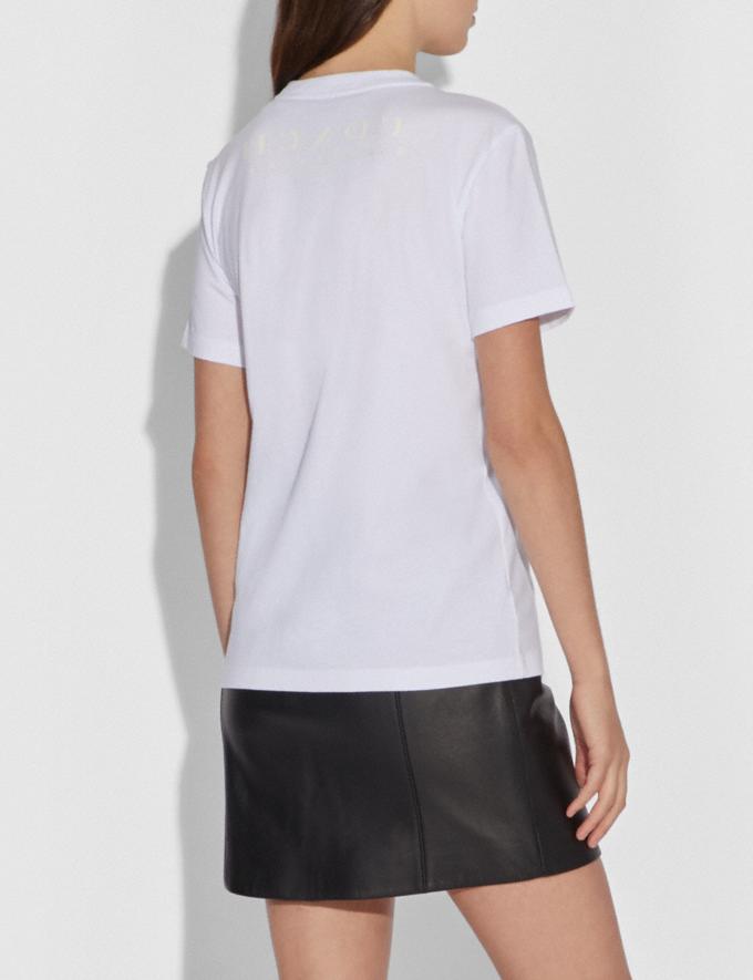 Coach Disney X Coach Dumbo Signature T-Shirt Optic White Women Ready-to-Wear Tops Alternate View 2