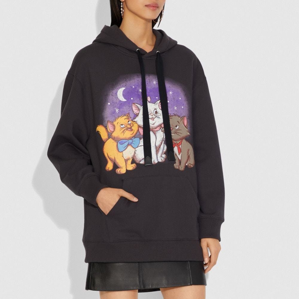 Coach Disney X Coach Aristocats Oversized Hoodie Alternate View 1