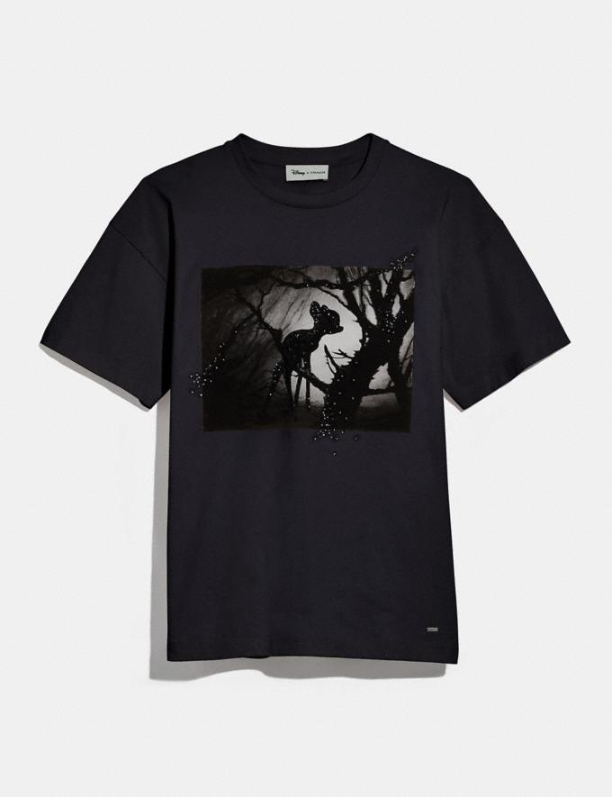 Coach Disney X Coach Bambi Oversized T-Shirt Dark Shadow SALE Women's Sale Ready-to-Wear