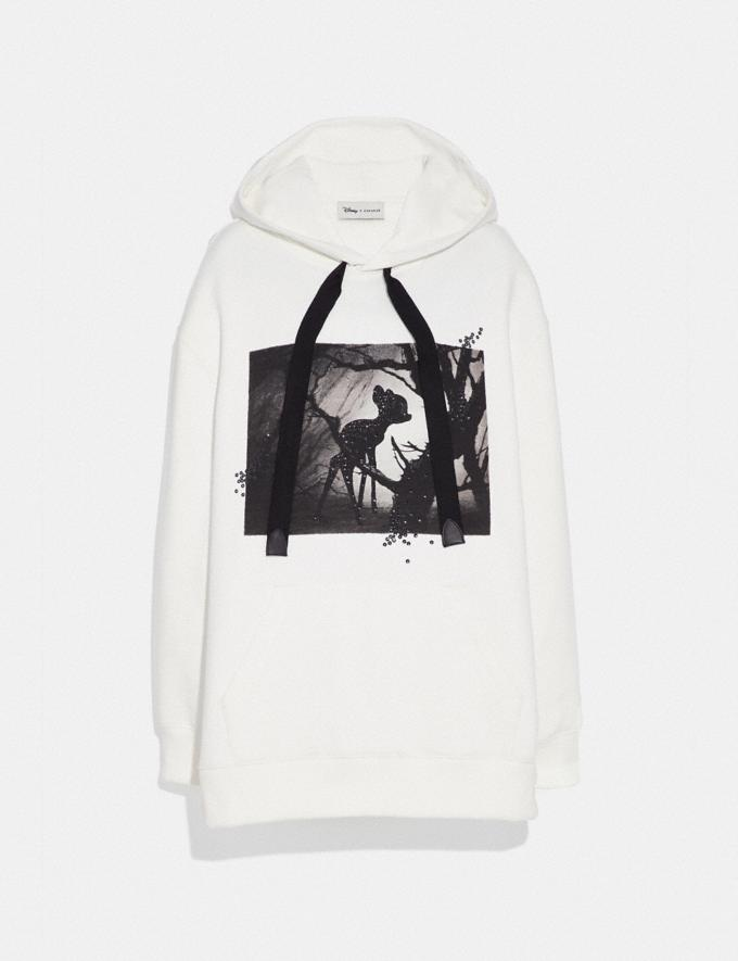 Coach Disney X Coach Bambi Oversized Hoodie Cream SALE Women's Sale Ready-to-Wear