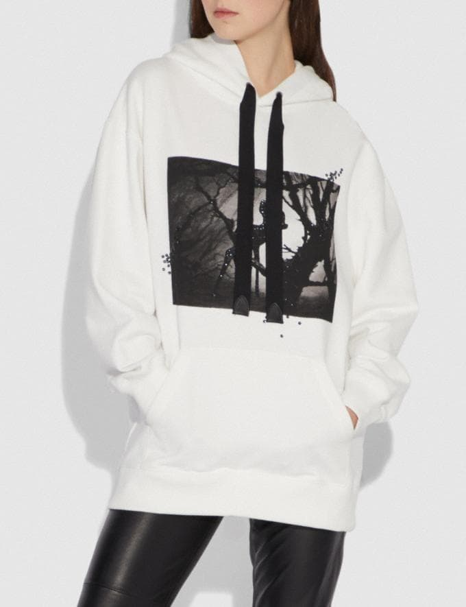 Coach Disney X Coach Bambi Oversized Hoodie Cream SALE Women's Sale Ready-to-Wear Alternate View 1