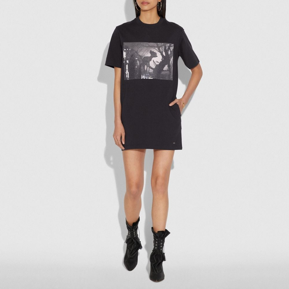 Coach Disney X Coach Bambi Sweatshirt Dress Alternate View 1