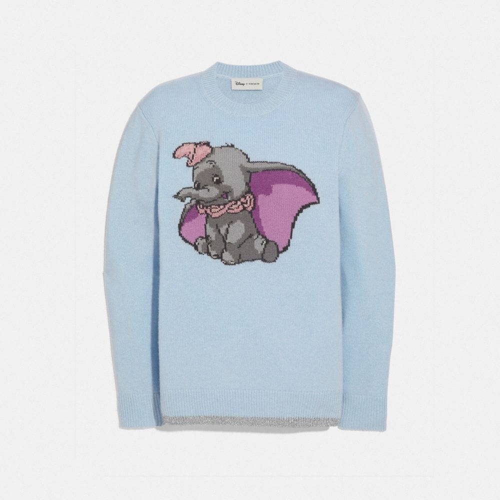 DISNEY X COACH DUMBO INTARSIA SWEATER