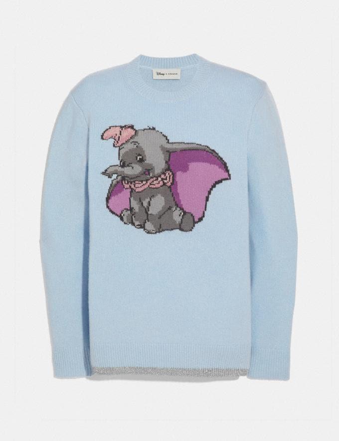 Coach Disney X Coach Dumbo Intarsia Sweater Blue SALE Women's Sale Ready-to-Wear