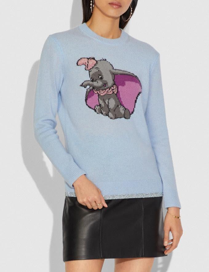 Coach Disney X Coach Dumbo Intarsia Sweater Blue DEFAULT_CATEGORY Alternate View 1