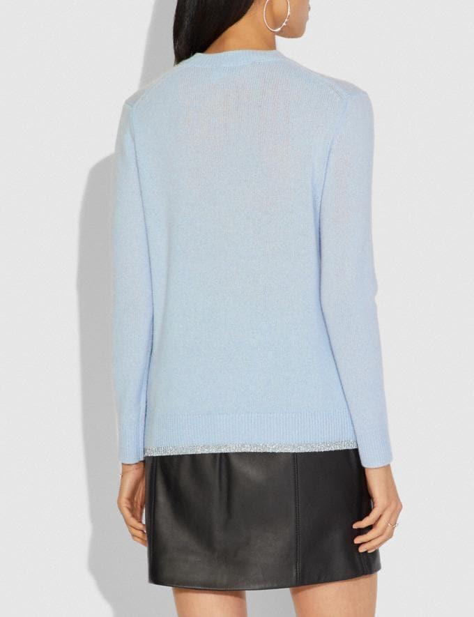 Coach Disney X Coach Dumbo Intarsia Sweater Blue SALE Women's Sale Ready-to-Wear Alternate View 2