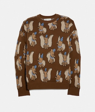DISNEY X COACH DUMBO JACQUARD SWEATER