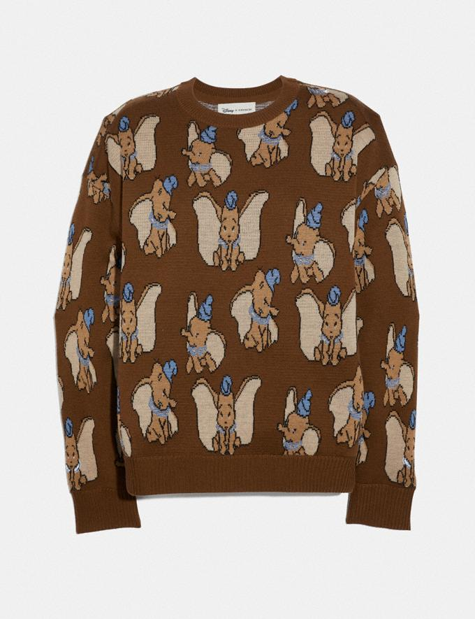 Coach Disney X Coach Dumbo Jacquard Sweater Brown Women Ready-to-Wear Tops