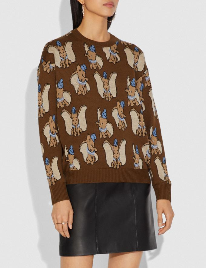 Coach Disney X Coach Dumbo Jacquard Sweater Brown Women Ready-to-Wear Tops Alternate View 1