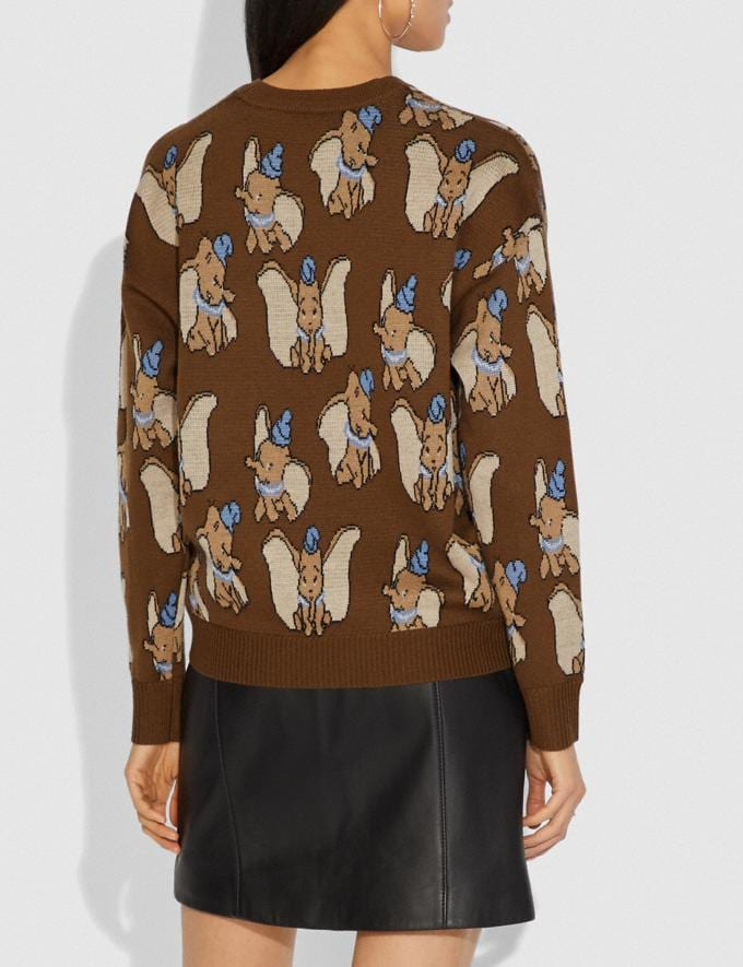 Coach Disney X Coach Dumbo Jacquard Sweater Brown Women Ready-to-Wear Tops Alternate View 2