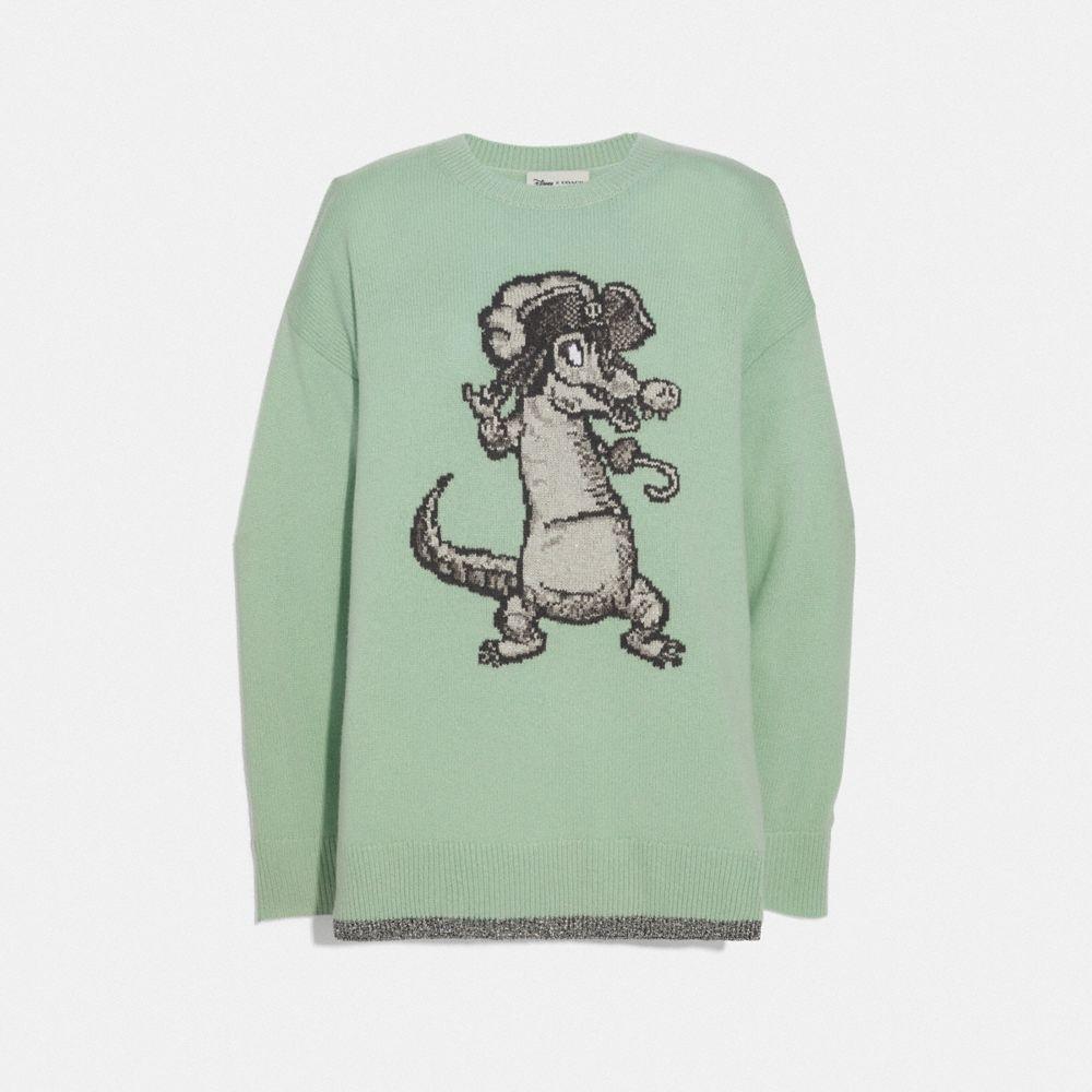 Coach Disney X Coach Crocodile Oversized Intarsia Sweater