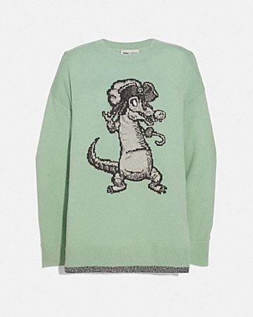 030cb034666b3 DISNEY X COACH CROCODILE OVERSIZED INTARSIA SWEATER ...