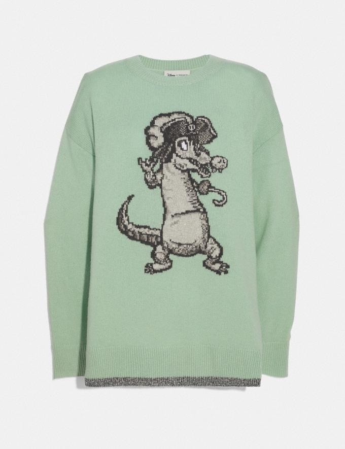 Coach Disney X Coach Crocodile Oversized Intarsia Sweater Mint DEFAULT_CATEGORY