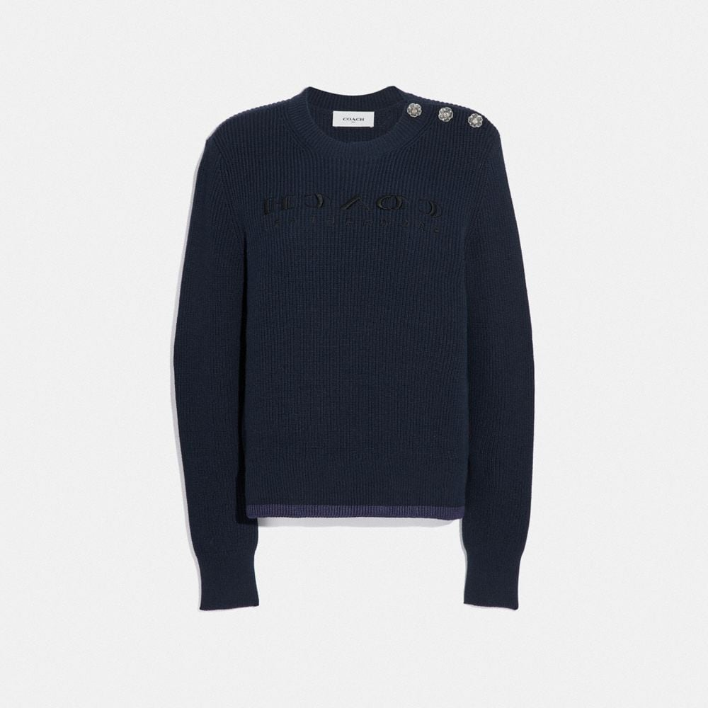 Coach Reverse Coach Sweater