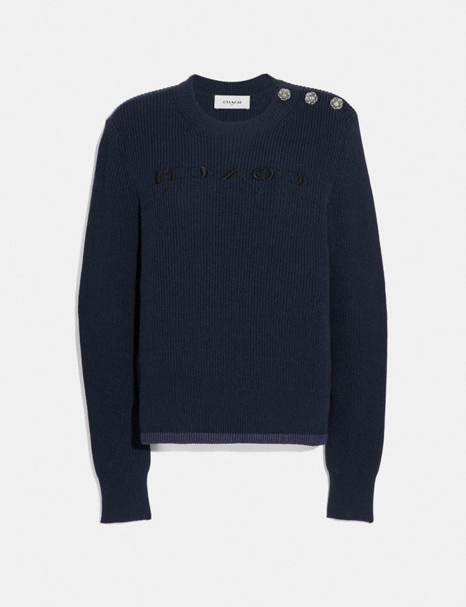 Coach Reverse Coach Sweater Navy