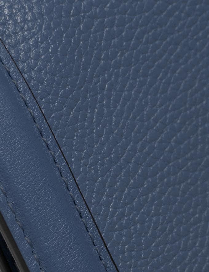 Coach Riley Chain Clutch Brass/Dark Denim Women Handbags Crossbody Bags Alternate View 4