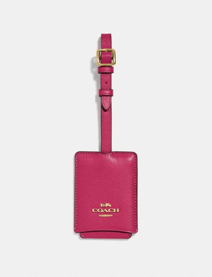 Coach Luggage Tag Bright Cherry/Gold Damen Accessoires