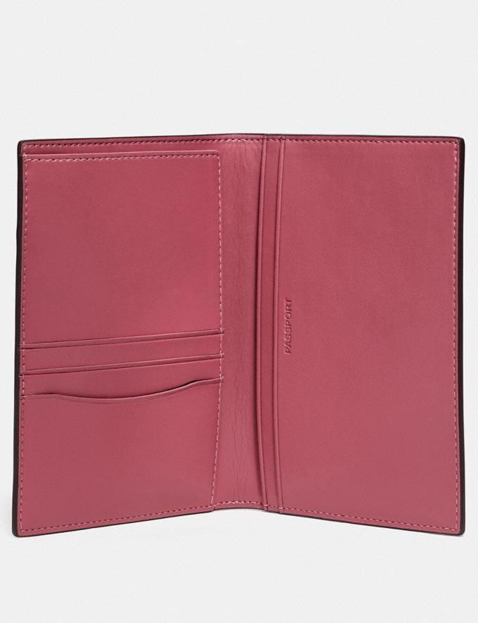 Coach Passport Case Gold/Dusty Pink New Women's New Arrivals Accessories Alternate View 1