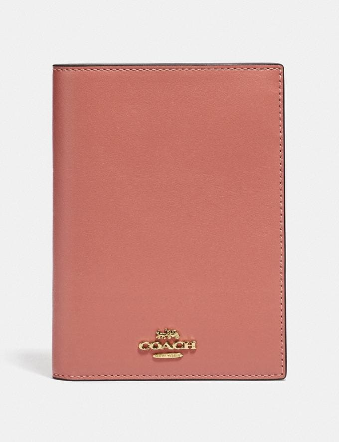 Coach Passport Case Light Peach/Gold Donna Accessori Accessori da viaggio