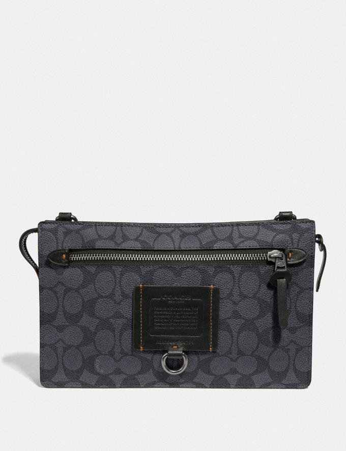 Coach Rivington Convertible Pouch in Signature Canvas Charcoal New Men's Trends Modern Travel