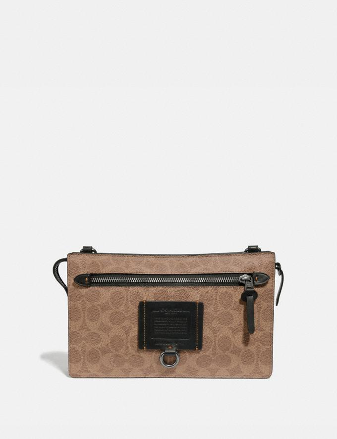 Coach Rivington Convertible Pouch in Signature Canvas Khaki Gifts For Him Under $300
