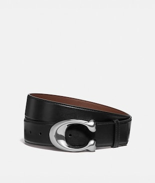 SIGNATURE BUCKLE CUT-TO-SIZE DRESS BELT, 38MM