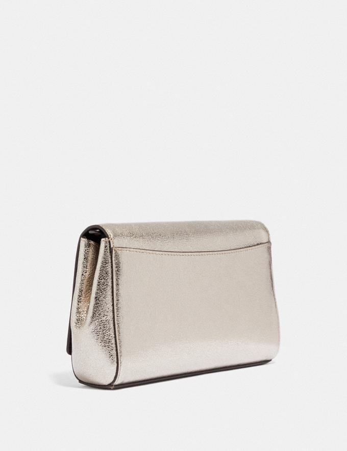 Coach Small Alexa Turnlock Clutch Pewter/Platinum New Featured Women New Top Picks Alternate View 1
