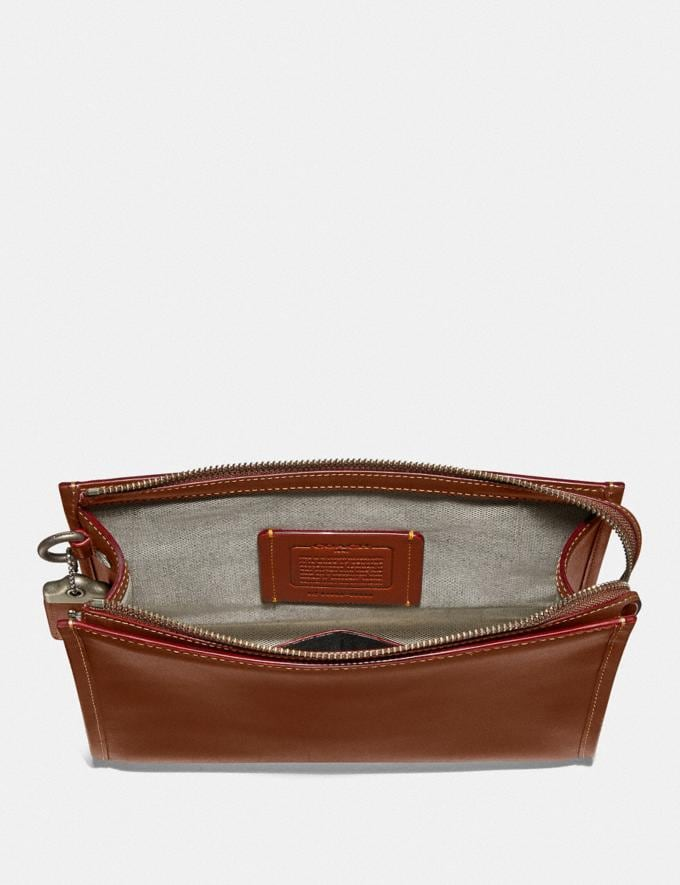 Coach Rogue Pouch Dark Sienna SALE Private Event Men's Alternate View 1