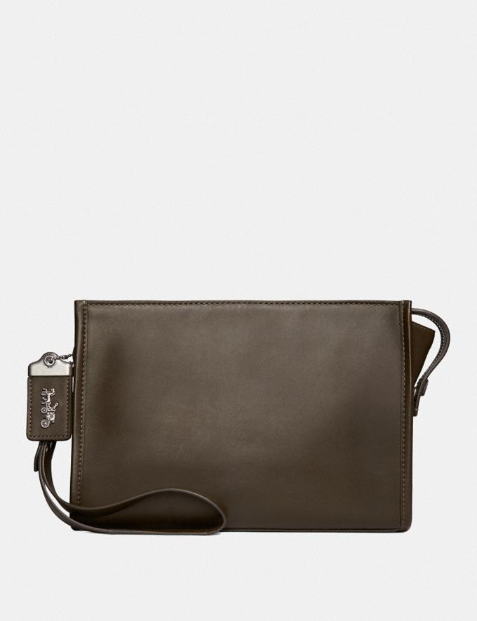 Coach Rogue Pouch Moss Men Bags Pouches