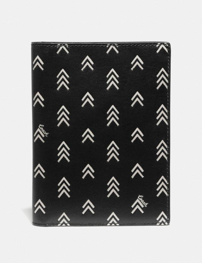 Coach Passport Case With Line Arrow Print Black/Chalk 30% off Select Full-Price Styles
