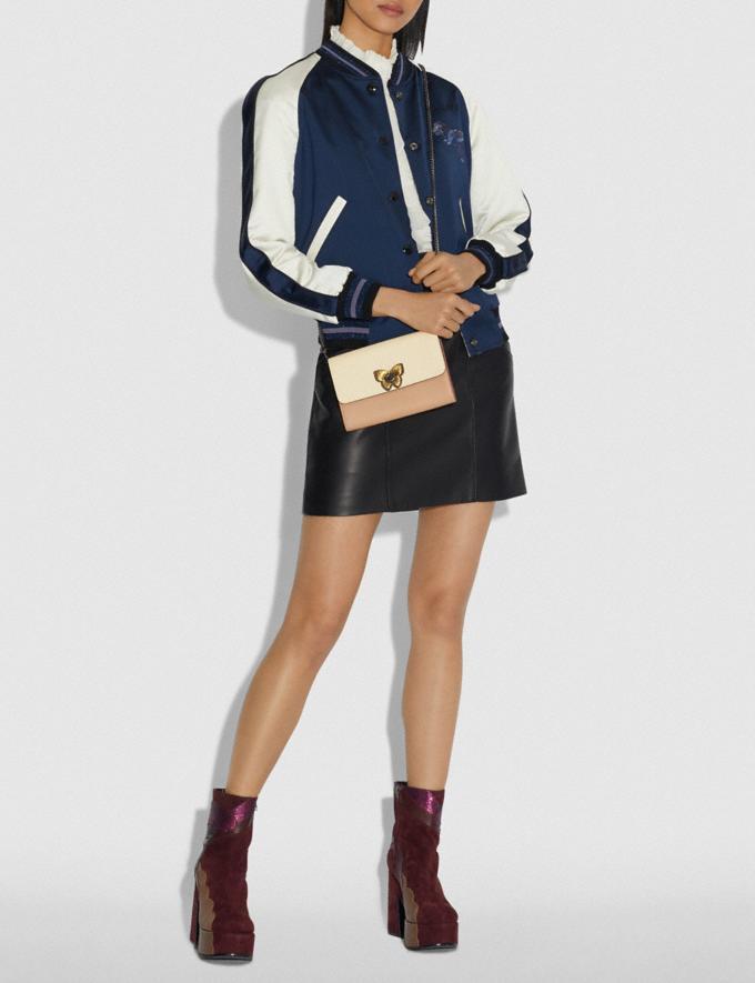 Coach Marlow Turnlock Chain Crossbody Ivory Multi/Pewter Women Bags Crossbody Bags Alternate View 3
