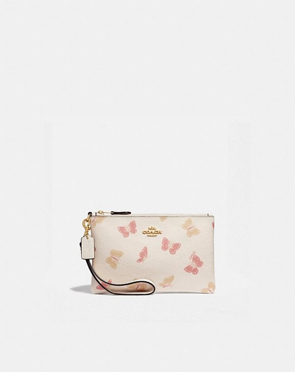 Coach SMALL WRISTLET WITH BUTTERFLY PRINT