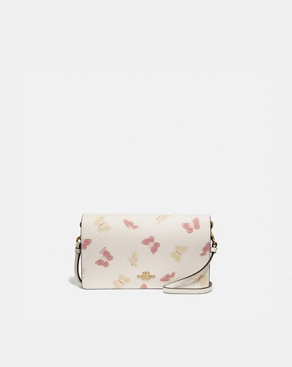 Coach HAYDEN FOLDOVER CROSSBODY CLUTCH WITH BUTTERFLY PRINT