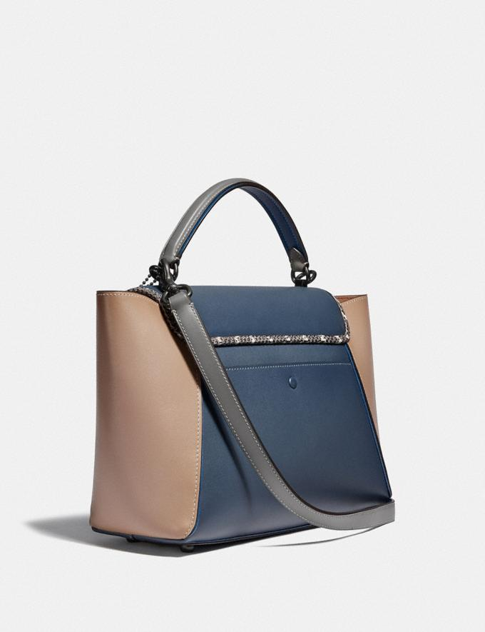 Coach Courier Carryall in Colorblock Leather With Snakeskin Detail Pewter/Dark Denim Multi Cyber Monday Para ella Rebajas del Cyber Monday Vistas alternativas 1