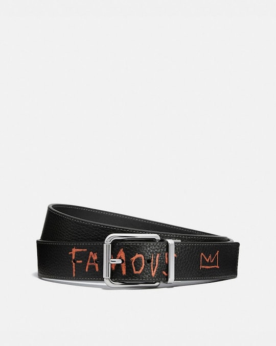 COACH X JEAN-MICHEL BASQUIAT HARNESS BUCKLE CUT-TO-SIZE REVERSIBLE BELT