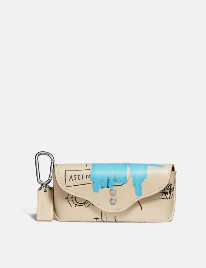 Coach Coach X Jean-Michel Basquiat Rogue Sunglass Case Ivory New Men's New Arrivals Bestsellers