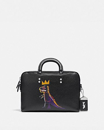 porte-documents fin rogue 25 coach x jean-michel basquiat