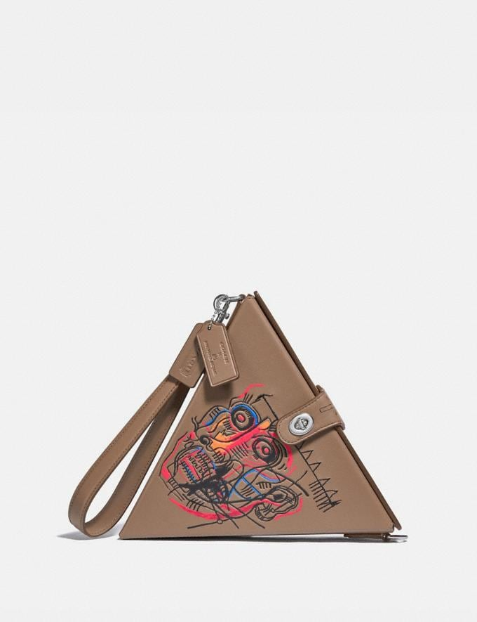 Coach Coach X Jean-Michel Basquiat Triangle Bag 24 Nickel/Elm