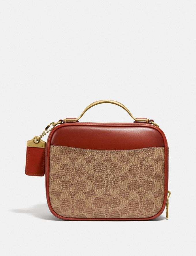 Coach Riley Lunchbox Bag in Signature Canvas Brass/Tan Rust Cyber Monday DAMEN Cyber Monday für sie Alternative Ansicht 2